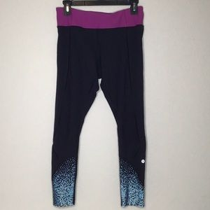 Lululemon Tight Stuff Reflective Leggings Sz 8